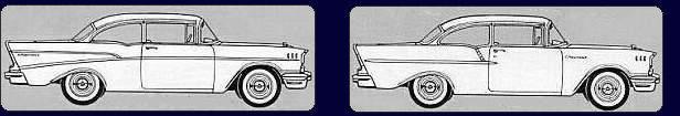 Chevy 57: Der Two-Ten und One-Fifty haben andere Zierleisten