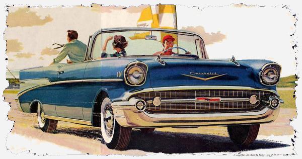 Der Chevrolet im Jahre 1957 (aus einer Anzeige)